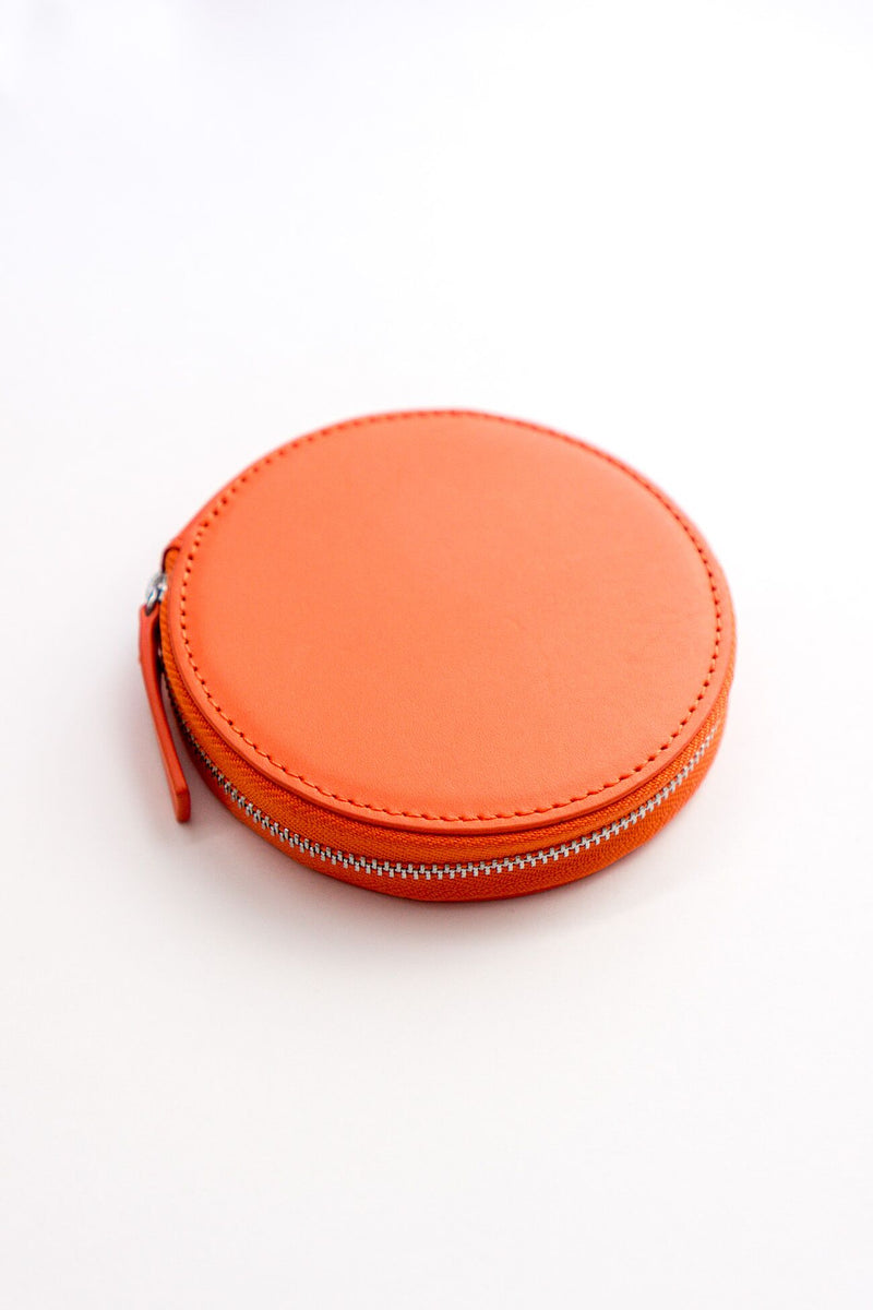 Baggu Circle Wallet in Warm Red