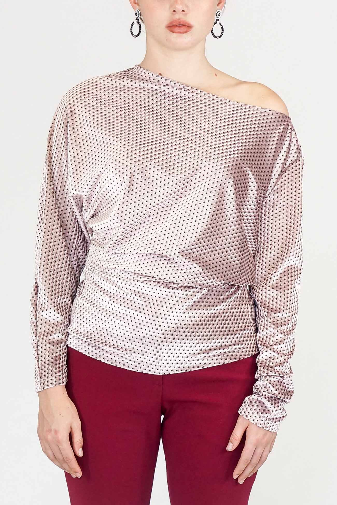 Rachel Comey Velvet Haven Top in Pink