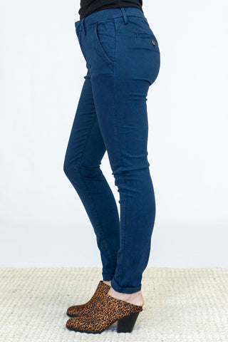 Reiko Chino Trousers in Dark Navy