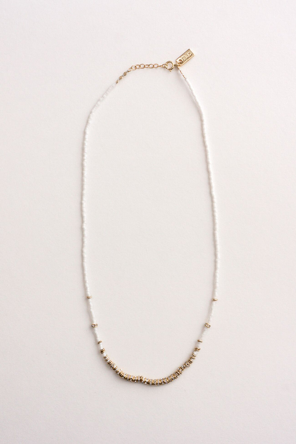 ILD White and Gold North Short Full Necklace