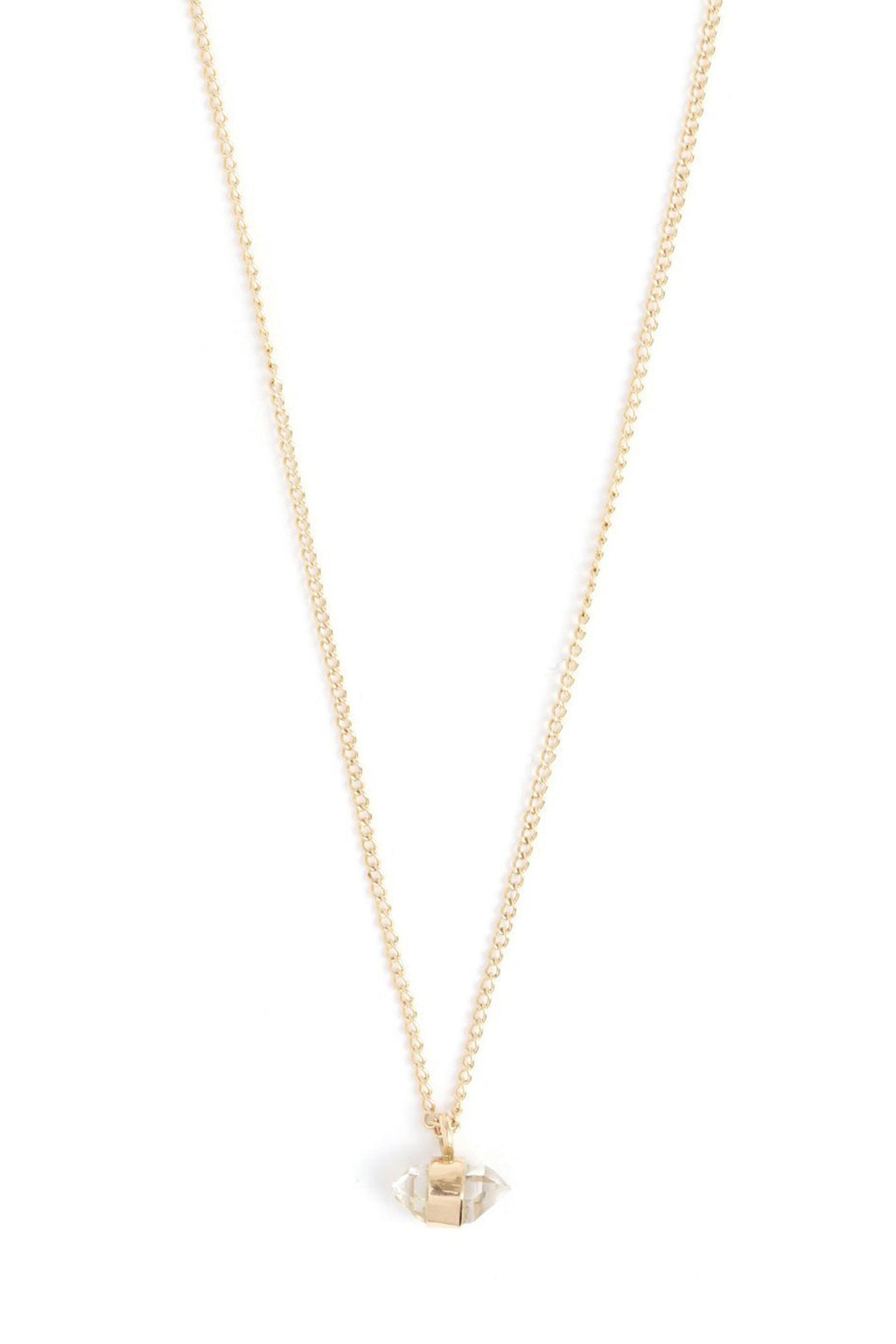Melissa Joy Manning 14K Yellow Gold Herkimer Diamond Necklace