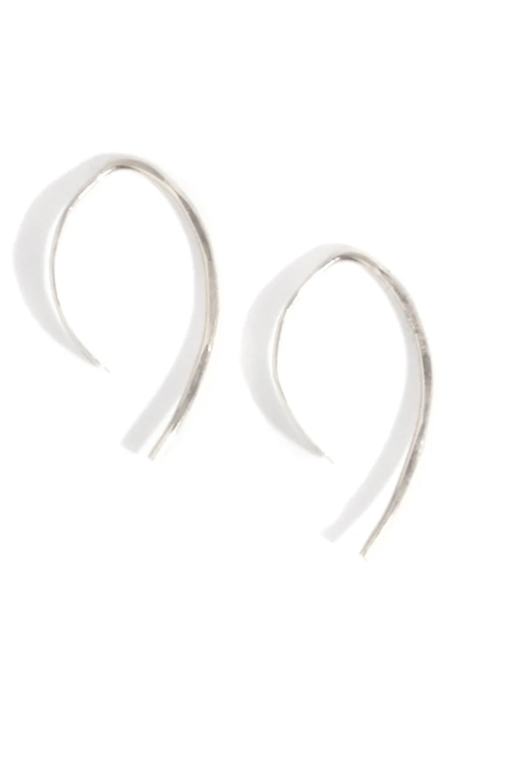 "Melissa Joy Manning 1.5"" Sterling Silver Wishbone Hoop Earrings"