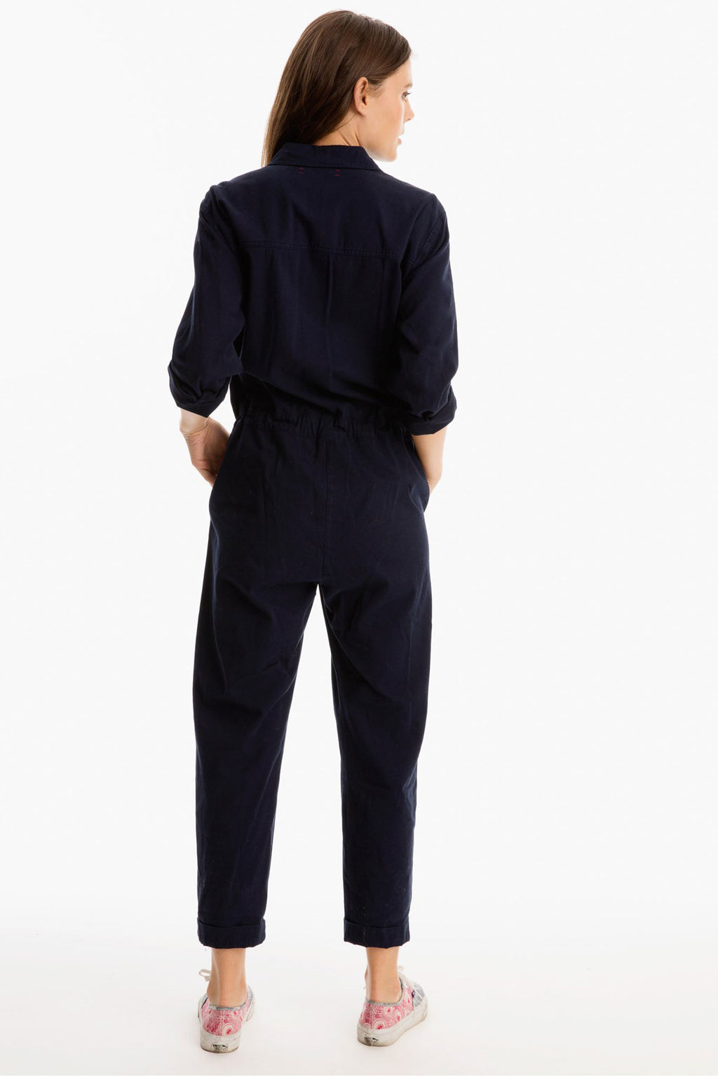 Xirena Wilson Cotton Jumpsuit in Ink Blue