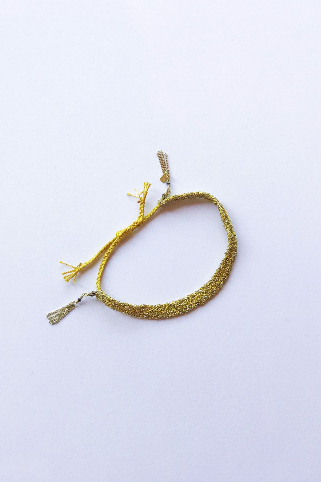 Marie Laure Chamorel 24K Gold and Sterling Silver Bracelet Gold Yellow
