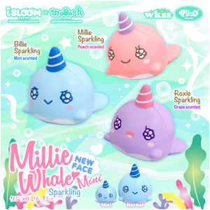 iBloom Mini Millie the Whale Sparkling Eyes Squishy