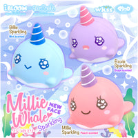 iBloom Millie the Whale Sparkling Eyes Squishy