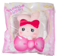 iBloom Angel Bunny Squishy pink bunny front view in ibloom packaging
