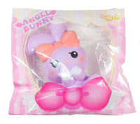 iBloom Angel Bunny Squishy purple bunny front view in ibloom packaging