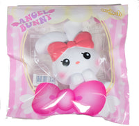 iBloom Angel Bunny Squishy white bunny front view in ibloom packaging