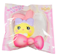 iBloom Angel Bunny Squishy yellow bunny front view in ibloom packaging