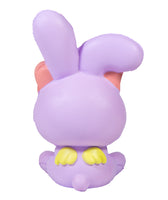 iBloom Angel Bunny Squishy purple bunny rear view