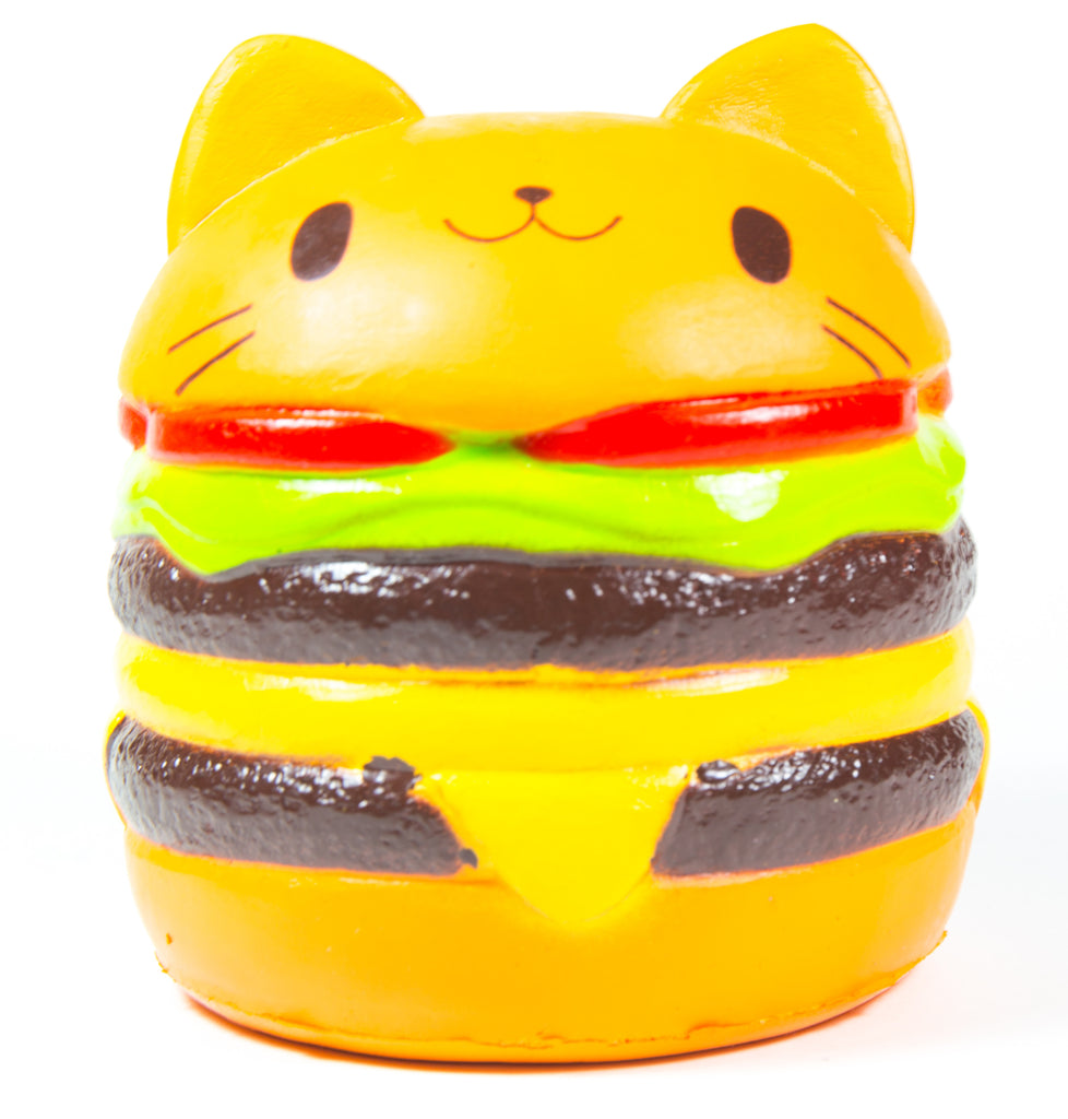 Jumbo Squishy Cartoon Yummy Cat Hamburger Squishy Slow