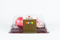 Puni-Maru Jumbo Mochi Seal Squishy Strawberry version in packaging side view