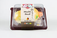 Puni-Maru Jumbo Mochi Seal Squishy Mango version in packaging top view