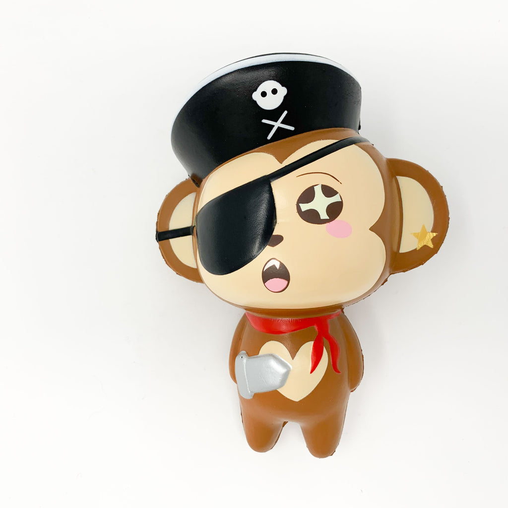 Puni Maru Jumbo Pirate Cheeki Squishy surprised version front view