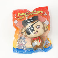 Puni Maru Jumbo Pirate Cheeki Squishy surprised version front view in packaging