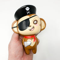 Puni Maru Jumbo Pirate Cheeki Squishy smile version front view held in hand