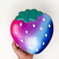 Ibloom Jumbo Strawberry Cookie Squishy galaxy version held in hand