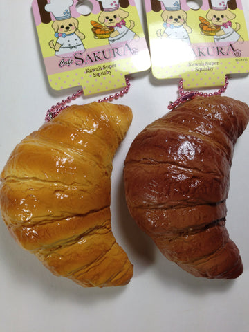 Authentic Cafe Sakura Kawaii Super Squishy Croissant