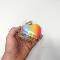 Poli Big Rainbow and Galaxy Heart Macaron Squishy