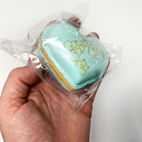 Poli New Big Heart Macaron Squishy mint green version held in hand