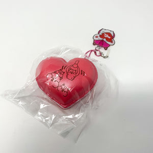 Poli New Big Heart Macaron Squishy red version