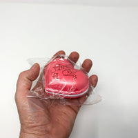 Poli New Big Heart Macaron Squishy red version held in hand