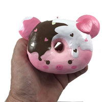 Marshmellii Piggy Donut Squishy Girl Front View held in hand