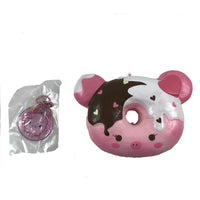 Marshmellii Piggy Donut Squishy Girl Front View with tag