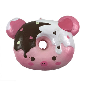 Marshmellii Piggy Donut Squishy Front View