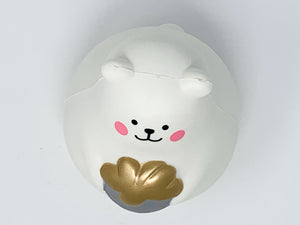 IBloom Marshmallow Bear Squishy Mr White Silver version top view
