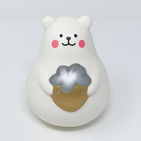 IBloom Marshmallow Bear Squishy Mr White Gold version front view