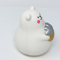 IBloom Marshmallow Bear Squishy Mr White Gold version side view