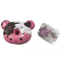 Marshmellii Piggy Donut Squishy Boy front view with tag