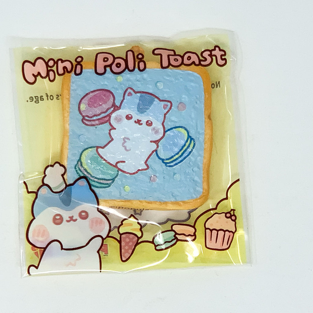 PopularBoxes Poli Mini Toast Squishy Blue Macaron Version in packaging