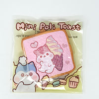 PopularBoxes Poli Mini Toast Squishy Pink Ice Cream Version in packaging