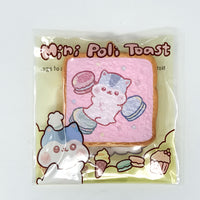 PopularBoxes Poli Mini Toast Squishy Pink Macaron Version in packaging