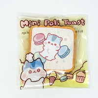 PopularBoxes Poli Mini Toast Squishy White Macaron Version in packaging