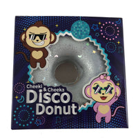 Puni Maru Disco Donut Squishy Silver version in box front view