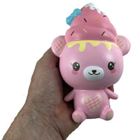 Creamiicandy Creamiibear Yummiibear Squishy front view held in hand