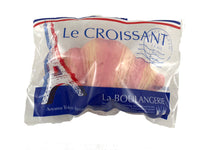 iBloom Le Croissant Squishy Strawberry version top view in packaging.