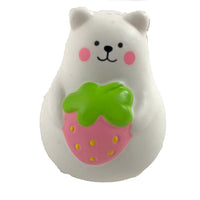 IBloom Mini Marshmallow Bear Squishy pink strawberry version front view