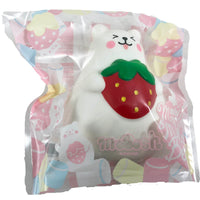 IBloom Mini Marshmallow Bear Squishy Red strawberry tongue version front view in packaging