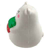 IBloom Mini Marshmallow Bear Squishy Red strawberry tongue version side view