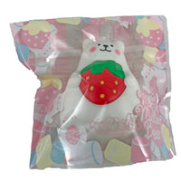 IBloom Mini Marshmallow Bear Squishy Red strawberry version front view in packaging