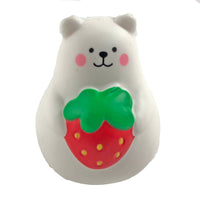 IBloom Mini Marshmallow Bear Squishy Red strawberry version front view