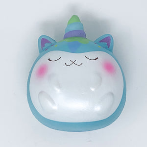 Jumbo Fat Poly Blue Unicorn Squishy