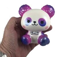 ibloom Cotton Candy Panda Squishy Neo version front view held in hand