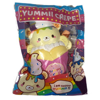 Creamiicandy Yummii Crepe Squishy rainbow version front view in packaging