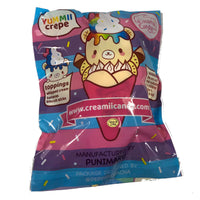 Creamiicandy Yummii Crepe Squishy rainbow version rear view in packaging